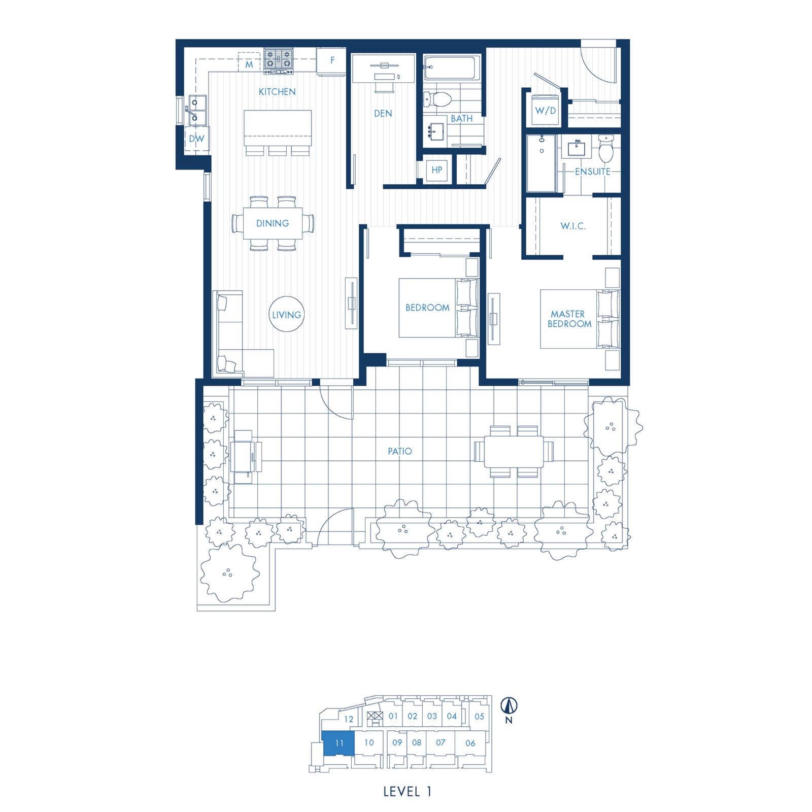 North Building Plan E